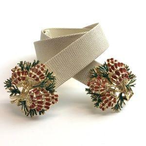 Vintage Accessories - Vintage Fancy Belt Womens Mimi Di N Christmas